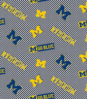 "University of Michigan Wolverines Cotton Fabric 44""-Tossed, , hi-res"