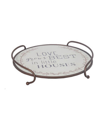 Simply Autumn Round Tray-Love Grows Best in Little Houses