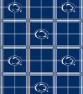 Penn State University Nittany Lions Flannel Fabric 42\u0022-Plaid