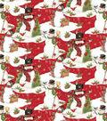 Christmas Cotton Fabric-Scenic Snowmen