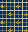 University of California, Berkeley Golden Bears Flannel Fabric 42\u0022-Plaid