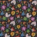 Novelty Cotton Fabric-Sugar Skull Dogs