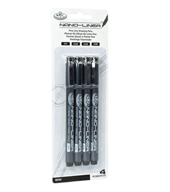 Royal Langnickel 4pk Variety Black Nano Liners
