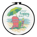 Dimensions Round Counted Cross Stitch Kit-My Happy Place
