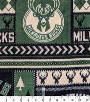 Milwaukee Bucks Fleece Fabric-Fair Isle, , hi-res