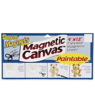 """Darice 9""""x12"""" Paintable Magnetic Canvas"""