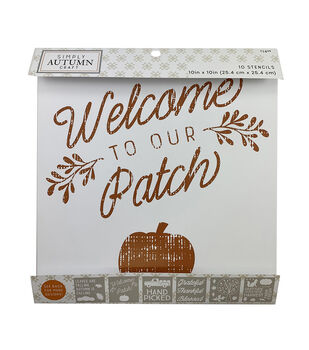 Simply Autumn Craft 10 pk 10''x10'' Stencils-Welcome to Our Patch