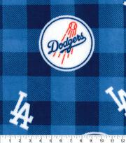 Los Angeles Dodgers Fleece Fabric-Buffalo Plaid, , hi-res