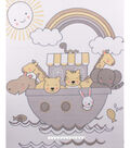 No Sew Fleece Throw 48\u0022-Noah\u0027s Ark