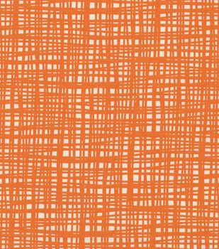 Keepsake Calico Cotton Fabric -Tangerine Crossed