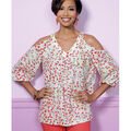 Butterick Pattern B6457 Misses\u0027 V-Neck or Scoopneck Tops-Size 14-22