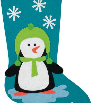 Little Makers Felt Stocking Kit-Penguin