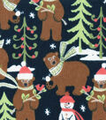 Snuggle Flannel Fabric 42\u0027\u0027-Bundled Up Bears & Snowmen