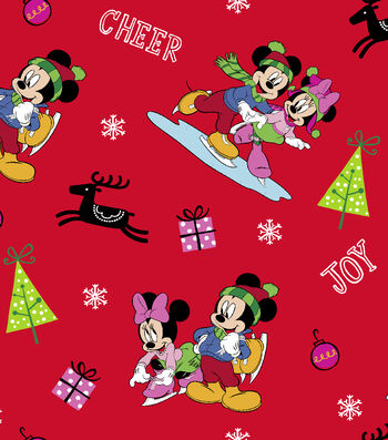Christmas Cotton Fabric -Mickey & Friends Home for the Holidays