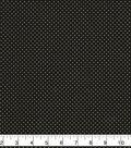 Christmas Cotton Fabric-Gold Pin Dots on Black