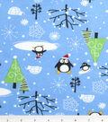 Maker\u0027s Holiday Fleece Fabric 42\u0022-Santa Penguins