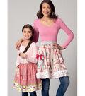McCall\u0027s Pattern M7448 Misses\u0027/Girls\u0027 Half Apron-Size 8-22/7-16