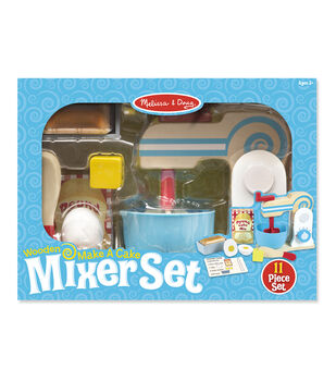 Melissa & Doug Wooden Make a Cake Mixer Set