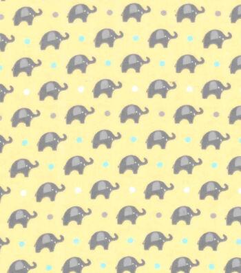 "Nursery Flannel Fabric 42""-Dream Big Mini Elephant"