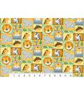 Nursery Flannel Fabric 42\u0022-Zoo Animal Patchwork