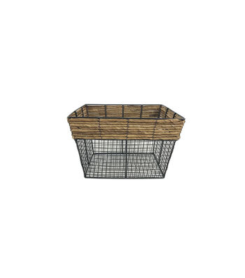 Small Sqaure Basket with Metal Wire