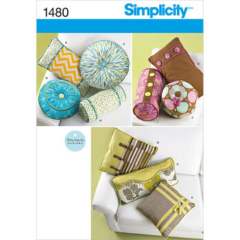 Simplicity Pattern 1480OS One Size -Crafts Home Dcor