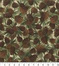 Novelty Cotton Fabric-Pinecones