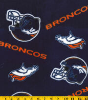 Denver Broncos Fleece Fabric -Tossed, , hi-res
