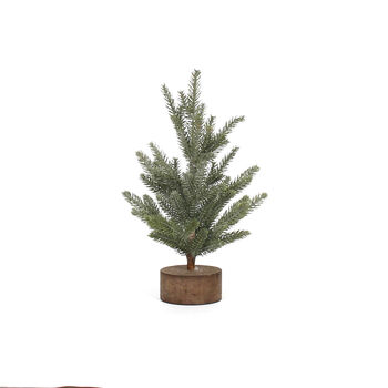 Handmade Holiday Large Christmas Tree with Wooden Base