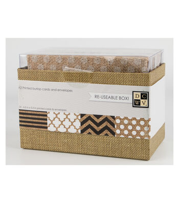 DCWV A2 Box of cards and envelopes: Burlap