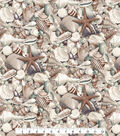 Novelty Cotton Fabric -Seashells