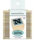 Dimensions DIY Stitchable Wood Trinket Box