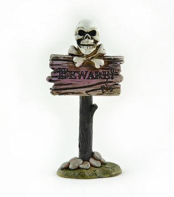Maker's Halloween Littles Sign-Beware