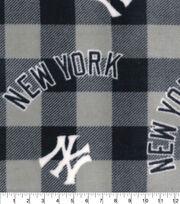 New York Yankees Fleece Fabric-Buffalo Plaid, , hi-res