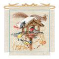 RIOLIS 7.75\u0027\u0027x11.75\u0027\u0027 Counted Cross Stitch Kit-Cottage Garden in Winter