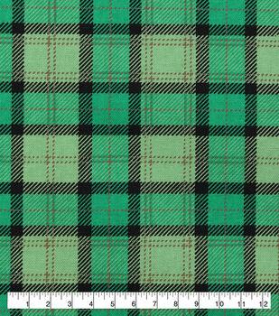 St. Patrick's Day Cotton Fabric-Buffalo Plaid