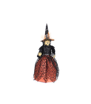 Maker's Halloween Standing Witch Doll in Spider Dress