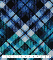 Keepsake Calico Cotton Fabric-Teal Distressed Plaid, , hi-res