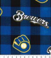 Milwaukee Brewers Fleece Fabric-Buffalo Plaid, , hi-res