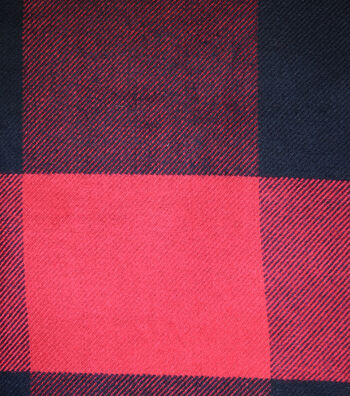 "Sportswear Acrylic Fabric 52""-Red & Black Buffalo Check"