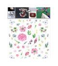 Textil Transfer Fabric Iron-Ons 7.75\u0022X7.75\u0022-Floral Design