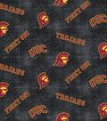University of Southern California Trojans Flannel Fabric 42\u0022-Logo