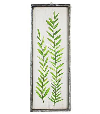 Hello Spring Vertical Wall Decor-Spring Fern