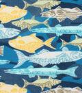 Anti-Pill Fleece Fabric -Textured Fish