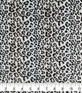 Soft & Comfy Fleece Fabric-Leopard Print on White