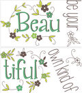 Wall Pops Be Your Own Beautiful Wall Quote Decals, 22\u0022 x 15.75\u0022