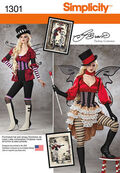 Simplicity Pattern 1301-Misses\u0027 Victorian Circus Costumes