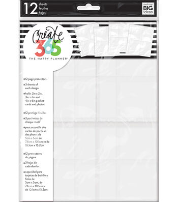 Create 365 Planner Page Protectors-3 Layout