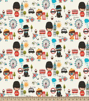London Eye Print Fabric