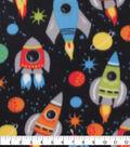 Blizzard Fleece Fabric-Rocket Ships